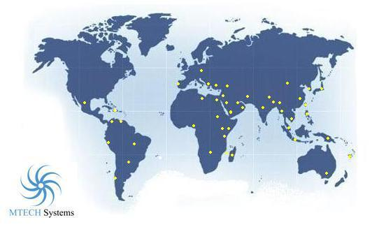 MTECH Systems World Coverage Map